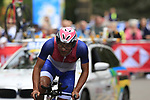 Gustavo Adolfo Mino Baez (PAR) in action during the Men Elite Individual Time Trial of the UCI World Championships 2019 running 54km from Northallerton to Harrogate, England. 25th September 2019.<br /> Picture: Eoin Clarke | Cyclefile<br /> <br /> All photos usage must carry mandatory copyright credit (© Cyclefile | Eoin Clarke)