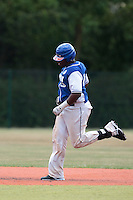 13 July 2010: Eleonar Pinto of Team Saint Martin runs the bases after a solo home run during day 1 of the Open de Rouen, an international tournament with Team France, Team Saint Martin, Team All Star Elite, at Stade Pierre Rolland, in Rouen, France.