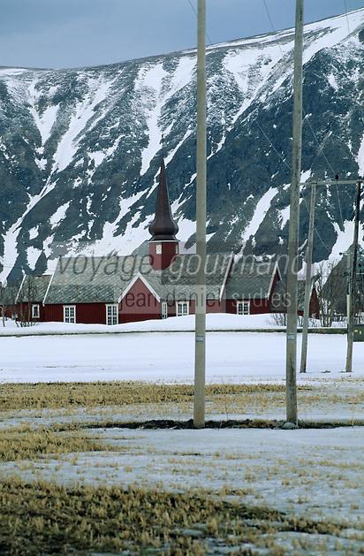 Europe/Norvège/Iles Lofoten/Flakstad: L'église