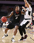 SIOUX FALLS, SD: MARCH 6: Darell Combs #0 of IUPUI drives on Daniel Norl #13 of Omaha during the Summit League Basketball Championship on March 6, 2017 at the Denny Sanford Premier Center in Sioux Falls, SD. (Photo by Dick Carlson/Inertia)