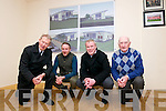 The launch of the Dingle Half Marathon and 10K run (July 2014) in aid of the development of the new Daingean Uí Chúis Club House and the Crumlin Children Hospital. From left: Micheal Ó Muircheartaigh, Tommy Griffin, Diarmuid Murphy and John Bambury.