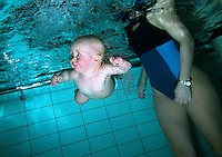 Babies being introduced to swimming at only a few months old..In contrast to most European countries, the Norwegian birth rate is a healthy 1.9. Norway's reputation as a child friendly society is partially founded on a succession of government initiatives to improve parents' rights and economic circumstances.