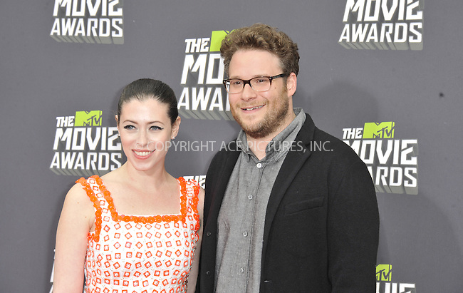 WWW.ACEPIXS.COM....April 14 2013, LA......Seth Rogen arriving at the 2013 MTV Movie Awards at Sony Pictures Studios on April 14, 2013 in Culver City, California. ....By Line: Peter West/ACE Pictures......ACE Pictures, Inc...tel: 646 769 0430..Email: info@acepixs.com..www.acepixs.com