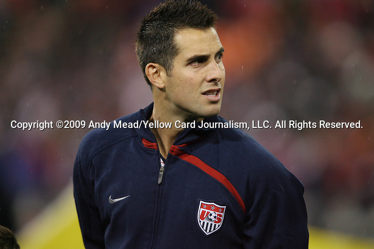 14 October 2009: Carlos Bocanegra (USA). The United States Men's National Team played the Costa Rica Men's National Team to a 2-2 tie at RFK Stadium in Washington, DC in the Hexagonal, the final CONCACAF round, a FIFA 2010 South Africa World Cup Qualifier.
