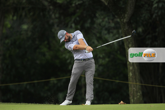 Andy Sullivan (ENG) in action on the 5th during Round 1 of the Maybank Championship at the Saujana Golf and Country Club in Kuala Lumpur on Thursday 1st February 2018.<br /> Picture:  Thos Caffrey / www.golffile.ie<br /> <br /> All photo usage must carry mandatory copyright credit (© Golffile | Thos Caffrey)