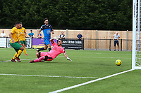 Zack Newton of Horsham scores the second goal for his team in the second half during Horsham vs Hartley Wintney, Friendly Match Football at Hop Oast on 13th July 2019