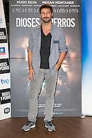 """Hugo Silva attends the """"DIOSES Y PERROS """" Movie presentation at Kinepolis Cinema in Madrid, Spain. October 6, 2014. (ALTERPHOTOS/Carlos Dafonte) /nortephoto.com"""