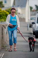 2014 06 28 Elenor Clark has diabetes detecting dog,Fishguard,UK
