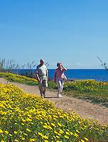 CYPRUS, Protaras: senior couple walking along seaside<br />