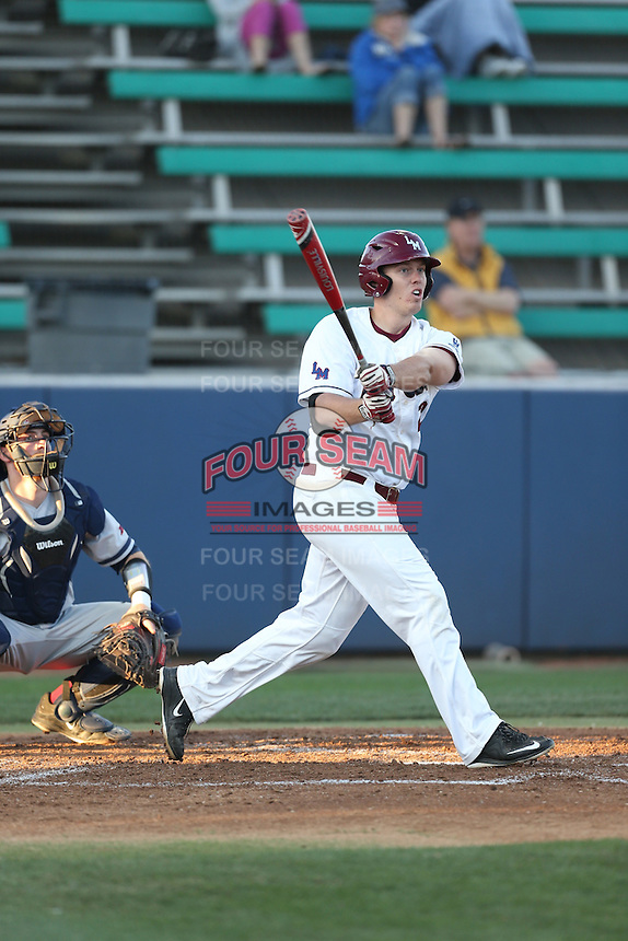 Jimmy Jack (25) of the Loyola Marymount Lions bats during a game against the Gonzaga Bulldogs at Page Stadium on March 27, 2015 in Los Angeles, California. Loyola Marymount defeated Gonzaga 6-5.(Larry Goren/Four Seam Images)