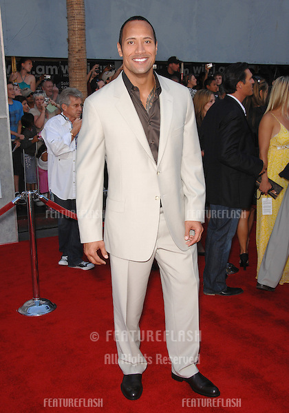 "Dwayne ""The Rock"" Johnson at the world premiere of his new movie ""The Game Plan"" at the El Capitan Theatre, Hollywood..September 23, 2007  Los Angeles, CA.Picture: Paul Smith / Featureflash"