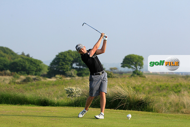 Keith Egan (Carton House) on the 15th tee during Round 3 of the East of Ireland Amateur Open Championship sponsored by City North Hotel at Co. Louth Golf club in Baltray on Monday 6th June 2016.<br /> Photo by: Golffile | Thos Caffrey