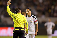 LA Galaxy midfielder Landon Donovan has a few words for referee Kevin Stott. The Colorado Rapids defeated the LA Galaxy 3-2 at Home Depot Center stadium in Carson, California on Saturday October 16, 2010.