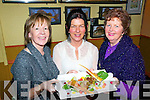 Gourmet Food : Tasting the gourmet food at Allo's Bistro, Listowel as part of the Listowel Food Fair on Saturday last were Delia O'Shea, Margaret Horgan & Mary Horgan