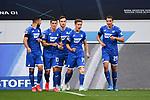 Torjubel nach dem 1-0 um Torschuetze Christoph Baumgartner (Hoffenheim).<br /> <br /> Sport: Fussball: 1. Bundesliga: Saison 19/20: 28. Spieltag: TSG 1899 Hoffenheim - 1. FC Koeln, 27.05.2020<br /> <br /> Foto: Markus Gilliar/GES/POOL/PIX-Sportfotos.<br /> <br /> Nur für journalistische Zwecke! Only for editorial use!<br /> <br /> Gemäß den Vorgaben der DFL Deutsche Fußball Liga ist es untersagt, in dem Stadion und/oder vom Spiel angefertigte Fotoaufnahmen in Form von Sequenzbildern und/oder videoähnlichen Fotostrecken zu verwerten bzw. verwerten zu lassen. DFL regulations prohibit any use of photographs as image sequences and/or quasi-video.