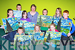 Artist Tina Reid who painted Van Gogh masterpiece Starry Night at their Art Course in the KDYS Killarney on Thursday front row l-r: Harry Bolger Killarney, Anna Dunlea, Dawn carmody all Killarney. Middle row: Béibhinn Brosnan, Kilcummin, Declan Mullen Clonkeen, Ailbhe Murphy Kilcummin, Tina Reid, Sam Bulger Killarney, Rachel Lyons Killorglin, Darragh Heffernan Killorglin<br />