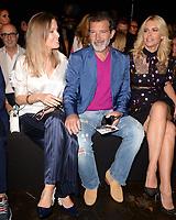 MIAMI, FL - MAY 31: Nicole Kimpel, Antonio Banderas and Valeria Mazza attend Miami Fashion Week at the Ice Palace Studios on May 31, 2018 in Miami Florida <br /> CAP/MPI04<br /> &copy;MPI04/Capital Pictures