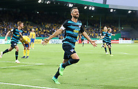 Vedad Ibisevic 2:1    celebration   2:1  <br /> / Sport / Football / DFB Pokal 1.round 3. Bundesliga Bundesliga /  2018/2019 / 20.08.2018 / BTSV Eintracht Braunschweig vs. Hertha BSC Berlin / DFL regulations prohibit any use of photographs as image sequences and/or quasi-video. /<br />       <br />    <br />  *** Local Caption *** &copy; pixathlon<br /> Contact: +49-40-22 63 02 60 , info@pixathlon.de