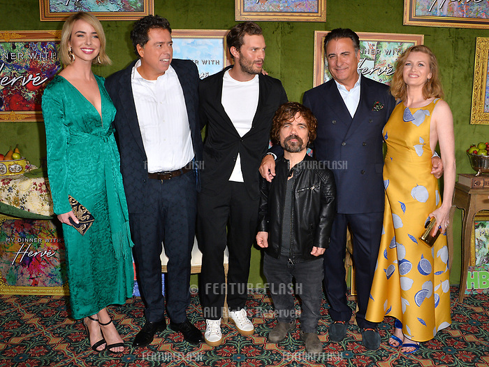 LOS ANGELES, CA. October 04, 2018: Ashleigh Brewer, Sacha Gervasi, Jamie Dornan, Peter Dinklage, Andy Garcia &amp; Mireille Enos at the Los Angeles premiere for &quot;My Dinner With Herve&quot; at Paramount Studios.<br /> Picture: Paul Smith/Featureflash