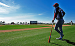 1 March 2010: Washington Nationals' Manager Jim Riggleman overlooks the practice field during Spring Training at the Carl Barger Baseball Complex in Viera, Florida. Mandatory Credit: Ed Wolfstein Photo