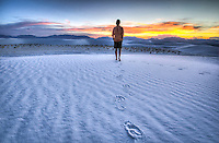 "Another Day in Paradise! This is again, one of those times when I jumped in the last shot of the day. From my ""Full Moon at White Sands Photo Workshop"" in New Mexico - August 2012"