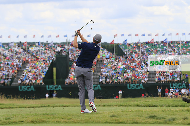 Bernd Wiesberger (AUT) tees off the par3 9th tee during Saturday's Round 3 of the 117th U.S. Open Championship 2017 held at Erin Hills, Erin, Wisconsin, USA. 17th June 2017.<br /> Picture: Eoin Clarke | Golffile<br /> <br /> <br /> All photos usage must carry mandatory copyright credit (&copy; Golffile | Eoin Clarke)