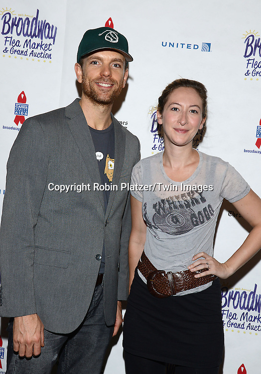 Paul Nolan and Jessie Fisher attend the 28th Annual  Broadway Cares/ Equity Fights Aids Flea Market and Auction on September 21,2014 in Shubert Alley in New York City. <br /> <br /> photo by Robin Platzer/Twin Images<br />  <br /> phone number 212-935-0770