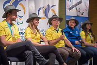 Welcome home / Press Conference / Nick Dean<br /> PyeongChang 2018 Paralympic Games<br /> Australian Paralympic Committee<br /> Sydney International Airport<br /> PyeongChang South Korea<br /> Tuesday March 20th 2018<br /> &copy; Sport the library / Jeff Crow