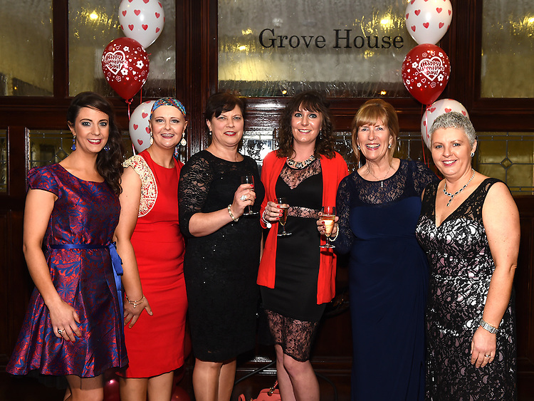 Carol Brodigan, Mary Regan, Orla Murphy and Ann Tracey pictured at the Valentine Ball in the Grove House Dunleer. Photo:Colin Bell/pressphotos.ie