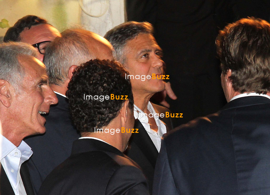 GEORGE CLOONEY &amp; AMAL ALAMUDDIN CELEBRATE STAG NIGHT EVENT AT DA IVO RESTAURANT IN VENICE - <br /> George Clooney &amp; British fiancee Amal Alamuddin celebrate their stag night event at the Da Ivo restaurant in Venice, prior to their wedding day. <br /> Robert De Niro, Matt Damon, Brad Pitt and Cate Blanchett were among the other stars, like Cindy Crawford, Rande Geber, Bill Murray, Emily Blunt.<br /> Italy, Venice, 26 September, 2014.
