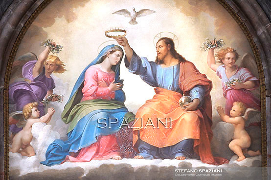 particular painting of Mary,jesus christ,Statue Saint Paul ,Saint Paul outside the walls basilica in Rome,Pope Benedict XVI leads Vespers on the Feast of the Conversion of the Apostle Paul on January 25, 2012 at the Saint Paul outside the walls basilica in Rome.