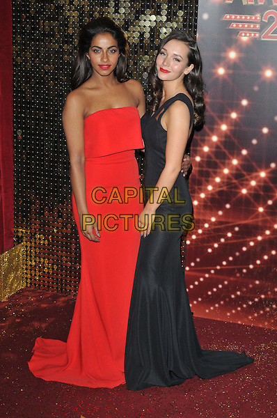 MANCHESTER, ENGLAND - MAY 16: Mandip Gill &amp; Nadine Rose Mulkerrin attend the British Soap Awards 2015, The Palace Hotel, Oxford Street, on Saturday May 16, 2015 in Manchester, England, UK. <br /> CAP/CAN<br /> &copy;CAN/Capital Pictures