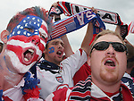 22 June 2006: U.S. fans sing before the game. Ghana played the United States at the Frankenstadion in Nuremberg, Germany in match 42, a Group E first round game, of the 2006 FIFA World Cup.