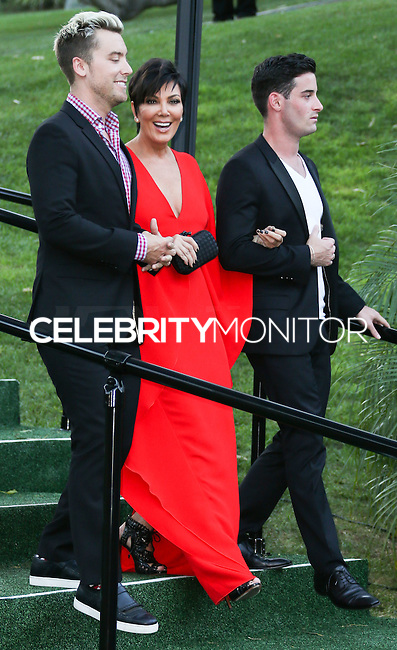 BEVERLY HILLS, CA, USA - SEPTEMBER 13: Lance Bass, Kris Jenner, Michael Turchin arrives at the Brent Shapiro Foundation For Alcohol And Drug Awareness' Annual 'Summer Spectacular Under The Stars' 2014 held at a Private Residence on September 13, 2014 in Beverly Hills, California, United States. (Photo by Xavier Collin/Celebrity Monitor)