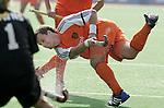 Champions Trophy hockey mannen. Nederland-Nieuw Zeeland (5-2). strafcornerspecialist Taeke Taekema was goed op dreef met twee doelpunten.
