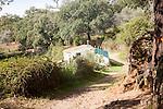 Footpath track trail Sierra Morena mountains, Sierra de Aracena, Huelva province, Spain