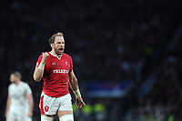Alun Wyn Jones (c) of Wales reacts during the Guinness Six Nations match between England and Wales at Twickenham Stadium on Saturday 7th March 2020 (Photo by Rob Munro/Stewart Communications)
