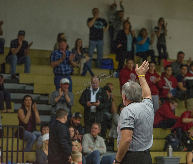 Longtime wrestling referee Les Rasmussen will be retiring after the season.  Rasmussen referred the NIAA Division I Northern Region Wrestling Championships held at Spanish Springs High School on Saturday, Feb. 13, 2016.