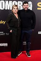 Actress Cristina Donadio and actor Salvatore Esposito attends to presentation 'Gomorra', tv series of Sky in Madrid, Spain. January 25, 2018. (ALTERPHOTOS/Borja B.Hojas/Insidefoto)
