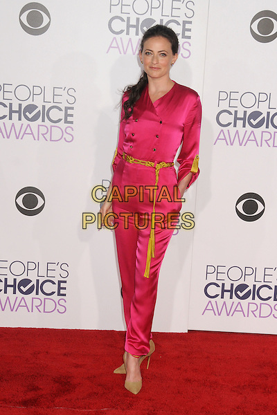 6 January 2016 - Los Angeles, California - Lara Pulver. People's Choice Awards 2016 - Arrivals held at The Microsoft Theater. <br /> CAP/ADM/BP<br /> &copy;BP/ADM/Capital Pictures