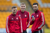 24th November 2019; McDairmid Park, Perth, Perth and Kinross, Scotland; Scottish Premiership Football, St Johnstone versus Aberdeen; Bruce Anderson, Dean Campbell and Connor McLennan of Aberdeen inspect the pitch before the match - Editorial Use