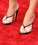 """Actress Elisabeth Rohm 's shoes at The Los Angeles Premiere of """"Vicky Cristina Barcelona"""" at the Mann Village Theatre on August 4, 2008 in Westwood, California."""