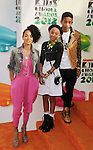 LOS ANGELES, CA - MARCH 31: Jada Pinkett Smith, Willow Smith and Jaden Smith arrive at the 2012 Nickelodeon Kids' Choice Awards at Galen Center on March 31, 2012 in Los Angeles, California.