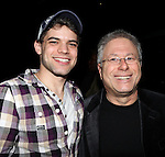 Jeremy Jordan & Alan Menken.attending the Actors' Equity Broadway Opening Night Gypsy Robe Ceremony for Aaron J. Albano in.'Newsies - The Musical' at the Nederlander Theatre in NewYork City on 3/29/2012