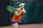 ATHENS, GA - MAY 23: Brooke Austin of the University of Florida returns a serve against Stanford University during the Division I Women's Tennis Championship held at the Dan Magill Tennis Complex on the University of Georgia campus on May 23, 2017 in Athens, Georgia. (Photo by Steve Nowland/NCAA Photos via Getty Images)