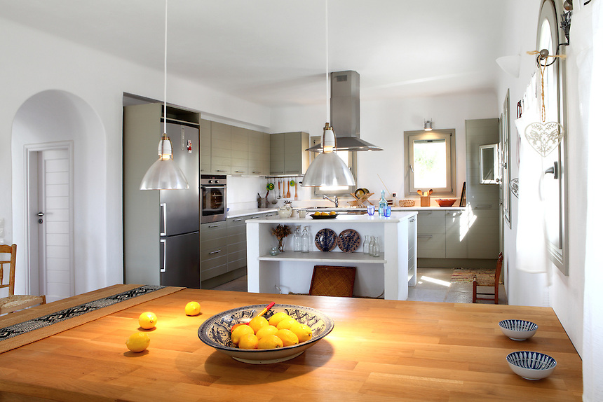 traditional open plan kitchen