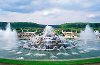 France, Versailles, The Fountain of Latona and the Gardens of Versailles