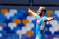 Dries Mertens of Napoli celebrates after scoring a goal<br /> Napoli 29-9-2019 Stadio San Paolo <br /> Football Serie A 2019/2020 <br /> SSC Napoli - Brescia FC<br /> Photo Cesare Purini / Insidefoto