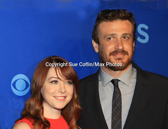 Alyson Hannigan & Jason Segal at the CBS Upfront on May 15, 2013 at Lincoln Center, New York City, New York. (Photo by Sue Coflin/Max Photos)