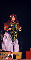 Jackie Haunani Basco, a hula dancer at the Merrie Monarch festival; Pukalani hula halau